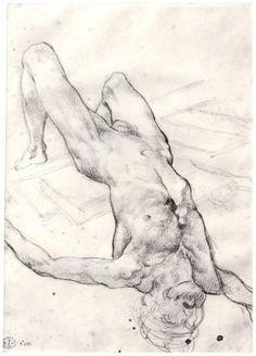 Schizzo preparatorio per la Zattera della Medusa, 1818-1819, matita, Théodore Géricault.