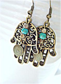 Boho Jewellery  Boho Earrings  Gypsy Earrings  by HandcraftedYoga, $22.00