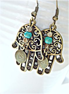 Boho Jewellery Boho Earrings Gypsy Earrings by HandcraftedYoga, $22.00