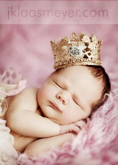 Inspiration For New Born Baby Photography : princess!