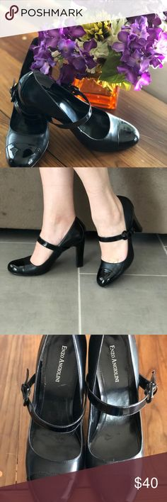 💫Enzo Angiolini Mary Jane pumps💫 💫Patent leather toe and heel. Only worn once. Super cute. Make me an offer.💫 Enzo Angiolini Shoes Heels