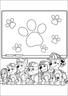 Kleurplaat Paw Control Kids N Fun
