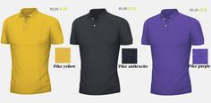 Yellow, Black, or purple POLO SHIRTS available by BETOLLI.
