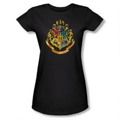 Add this Harry Potter Hogwarts crest t-shirt to your wardrobe!