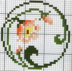 Floral circle - free cross stitch pattern...a good pattern for a beginner