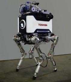 Toshiba unveils four-legged nuclear plant inspection robot