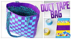 Duct Tape Tote Bag - Do It, Gurl, great way to DIY a gift bag!