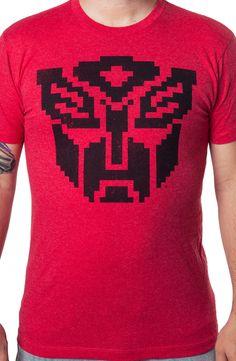 Pixel Autobot Logo Shirt: 80s Cartoons: Transformer Shirts
