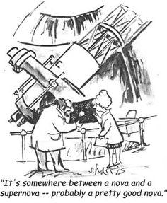 Celestial mediocrity... another Sidney Harris cartoon.