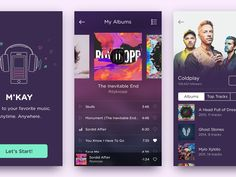 Hello dribbblers! Today I want to share my latest work on a music app. If you like it, press