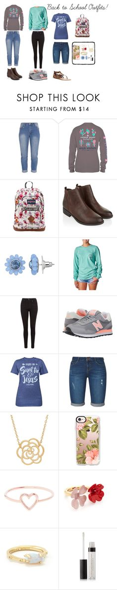 """Back to School!"" by haileywilliamson323 ❤ liked on Polyvore featuring JanSport, Monsoon, Simply Vera, Ivory Ella, Levi's, New Balance Classics, Dorothy Perkins, Lord & Taylor, Casetify and Love Is"