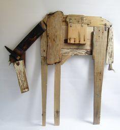 Maria RoelofsenIk - recycled wood horse