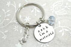 Mermaid Keychain Beach Keychain Ocean Keychain by BeautyInBaubles