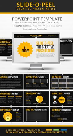 SlideOPeel Creative PowerPoint Presentation — Powerpoint PPT #blue #yellow • Available here → https://graphicriver.net/item/slideopeel-creative-powerpoint-presentation/308990?ref=pxcr