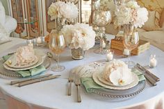 ELEGANT FRENCH THEMED TABLE SETTING IMAGES - Google Search