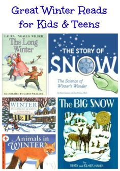 Wonderful books about winter -- picture books & chapter books great for kids of all ages!