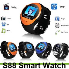 2015 For smart watch PG88 personal Sport Travel Security Monitor GPS Tracking Watch Phone Support MP3/4 player Sutable Kids-1 Discounted Smart Gear discountsmarttech...