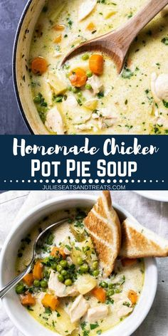 Homemade Chicken Pot Pie Soup Recipe A Hearty Full Of Veggies And