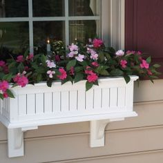 I love window boxes so much. Pretty sure I'm going to get these. Also pretty sure I'm going to fake it with the flowers. Our dollar store has plenty of decent ones that I can't kill - it's worth it to me to change them out every so often!
