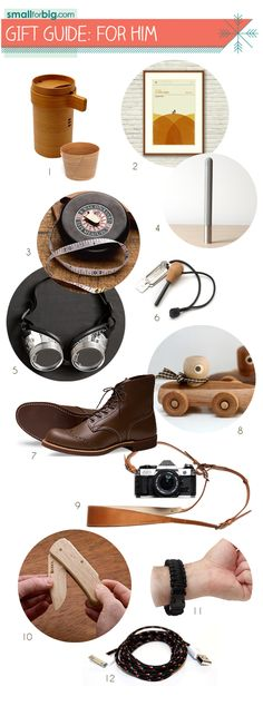 Great modern cool gift ideas for Father's Day! #gifts #dads via SmallforBig.com