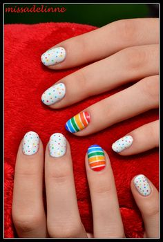 MissAdelinne: Colourful Dots and Stripes