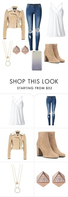 """39."" by nuffy-the-alpaca ❤ liked on Polyvore featuring Dondup, WithChic, Burberry, Yves Saint Laurent, Kate Spade and FOSSIL"