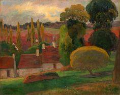 Paul Gauguin - A Farm in Brittany, 1894, oil on canvas