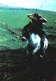 Paul horseback riding on the McCartney farm in Scotland