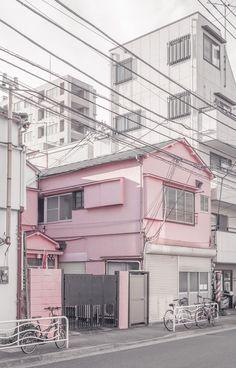 Pink residence in Morishita, Tokyo   © Jan Vranovský, 2016