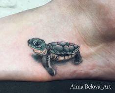 Cute Turtle Tattoo, Turtle Tattoo Designs, Heart Tattoo Designs, Hawaiian Turtle Tattoos, Baby Tattoos, Foot Tattoos, Body Art Tattoos, Tatoos, Small 3d Tattoos