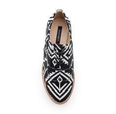 Tribal print oxfords / shoemint