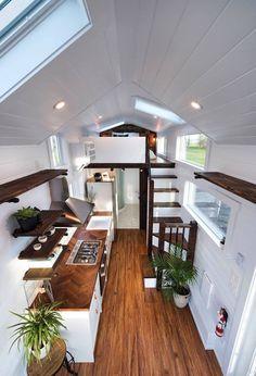 Best Tiny House, Modern Tiny House, Tiny House Living, Tiny House Plans, Tiny House On Wheels, Tiny House Design, Modern Lofts, Tiny House Movement, Tiny House Company