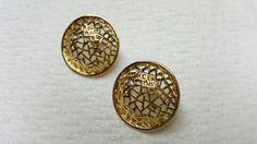 Avon Open Dome pierced earrings Mint Condition 1986 original box #avonjewellery #etsyseller