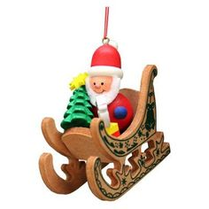 Christian Ulbricht Santa Sled Ornament - 10-0575