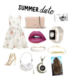 """""""My Idea Of A Summer Date"""" by angel-wwe-forever ❤ liked on Polyvore featuring New Look, Sergio Rossi, Givenchy, Sony, Frends, Humble Chic, summerdate and rooftopbar"""
