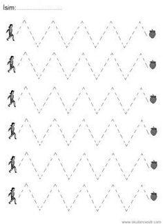 Zigzag Çizgi Çalışma Sayfası Preschool Writing, Preschool Education, Free Preschool, Preschool Lessons, Writing Activities, Preschool Activities, Kindergarten Coloring Pages, Kindergarten Math Worksheets, Tracing Worksheets