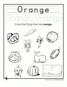 Learning Colors Worksheets for Preschoolers