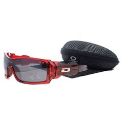 2bd9745d17e  13.99 Cheap Oakley Oil Rig Sunglasses Smoky Lens Clear Red Frames Deal  www.racal.