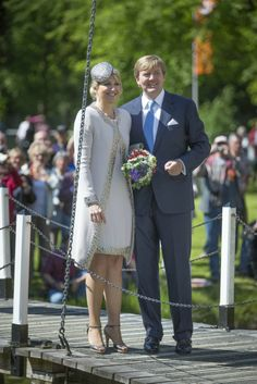 King Willem Alexander and Queen Maxima visit the provinces Groningen and Drenthe during their tour through the Netherlands, 28 may 2013