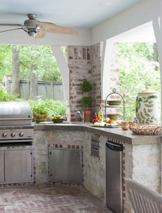 An outdoor kitchen!