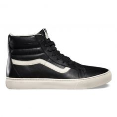 Vans SK8-Hi Cup CA Shoes (Leather) Black/Whisper White