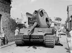 Knocked out Mk VI Tiger tank at Belpasso, Sicily, 1943 | Online Collection | National Army Museum, London