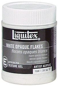 Acrylic Texture Gel - White Opaque Flakes