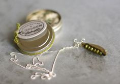 DIY peas in a pod necklace
