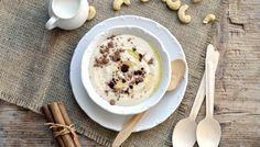 "Recept: ""Krupicová"" kešu kaše | od Lucky Grusové Oatmeal, Paleo, Low Carb, Ice Cream, Pudding, Breakfast, Desserts, Food, The Oatmeal"