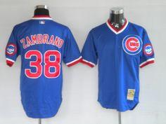 $22.00 MLB jerseys Chicago Cubs Carlos Zambrano #38 Blue