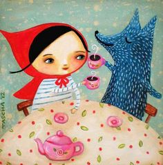 This is a book, I've listened to it before. It's called... ''Little Red Riding Hood And The Sweet Wolf'' Great Story :-)