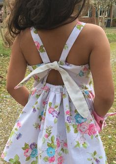 Pansy's Pocket Top and Sundress Sizes NB to 14 Kids PDF Pattern - Sewing for kids - Dress Girl Dress Patterns, Clothing Patterns, Sewing For Kids, Baby Sewing, Little Girl Dresses, Girls Dresses, Sundress Pattern, Kids Patterns, Pattern Ideas