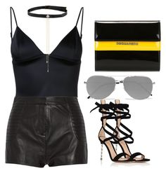 """""""Untitled #119"""" by jkrawiec ❤ liked on Polyvore featuring Dsquared2, T By Alexander Wang, Pierre Balmain, Gianvito Rossi and Yves Saint Laurent"""