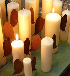 Rusty Metal Candle Wings (could do this with other things too like dinosaur tail, bunny ears)
